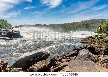 Murchison falls on the Victoria Nile riverUganda