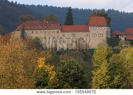 The Creuzburg Castle of Thuringia in Germany