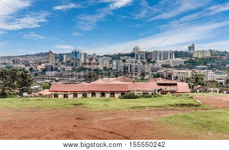 Kampala, Uganda- April 3, 2016: View from the above of the Capital city Kampala in Uganda Africa