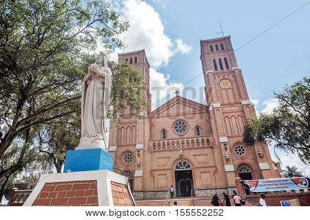 Kampala, Uganda- March 2, 2016: St. Mary's Catholic Cathedral on Rubaga Hill Kampala Uganda