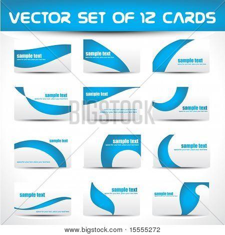 vector set of twelve business card