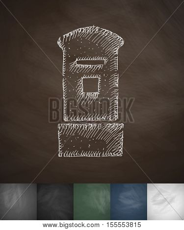 tower icon. Hand drawn vector illustration. Chalkboard Design