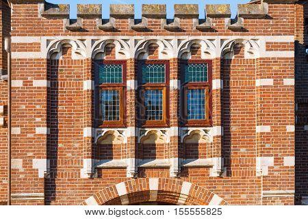 Close-up detail of the castle 'De Haar', in the province of Utrecht, the Netherlands