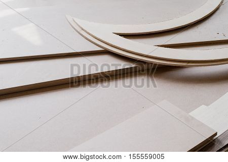 furniture edges and TOOLS. Plywood cuttings for use as textures or background.