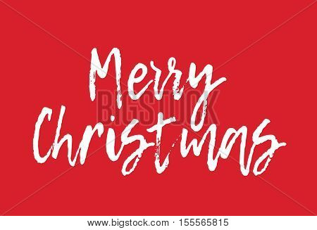 Merry Christmas Greeting Card - Merry Christmas Letter Background Postcard Calligraphy Typography Illustration Vector Stock