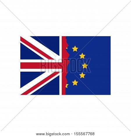 Brexit flag icon. European union eu europe nation and government theme. Isolated design. Vector illustration