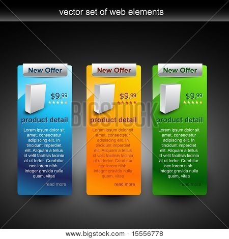 vector web elements for sale of the product