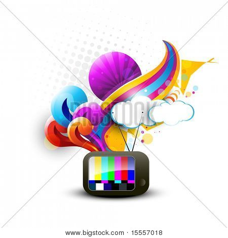 abstract tv vector artistic design poster