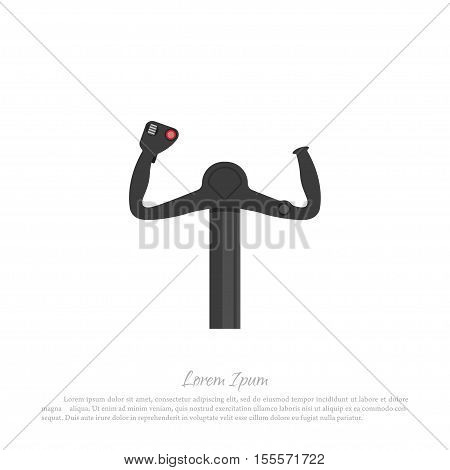 Helm civil aircraft pilots. Drawing in a flat style. Vector illustration
