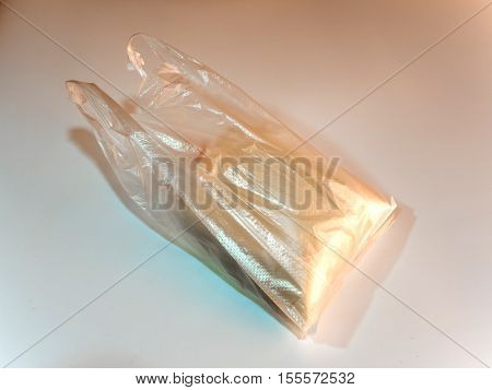 Soymilk in the plastic bag the traditional Thai or Chinese cuisine