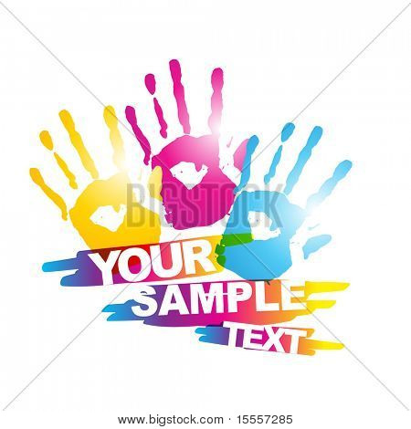 abstract colorful hand vector eps10 design