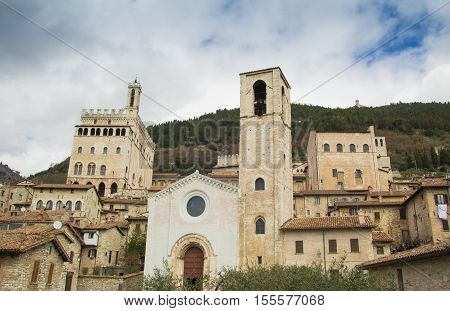 The medieval center of Gubbio city in Umbria
