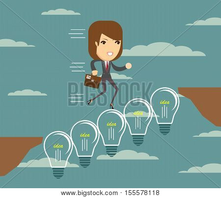 bridge of your ideas across the chasm. Stock vector illustration