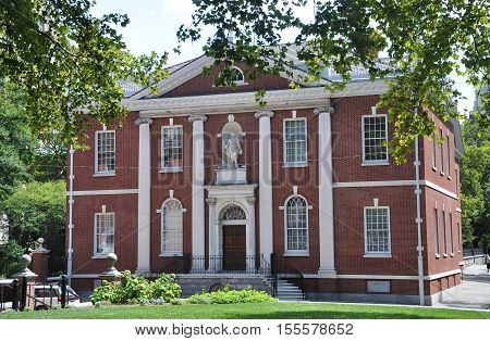 Library Hall is a historical building near Independence Hall in Old City Philadelphia, Pennsylvania, USA.