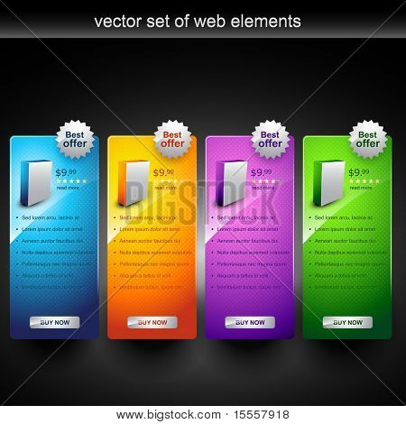 poster of web product display item vector