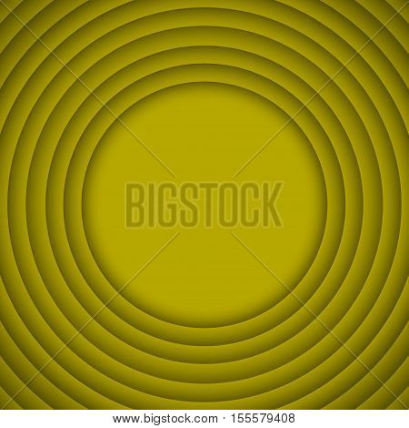 Vector Concentric Circle Yellow Elements Background. Vector illustration. Background with 10 Circles from Shadow. Wed Design.