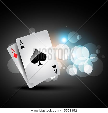 beautiful shiny playing cards illustration