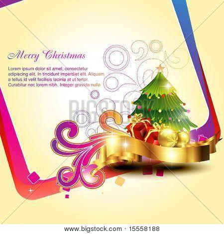 vector beautiful artistic christmas background design illustration
