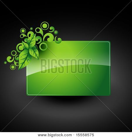 vector green leaf artwork with space for your text