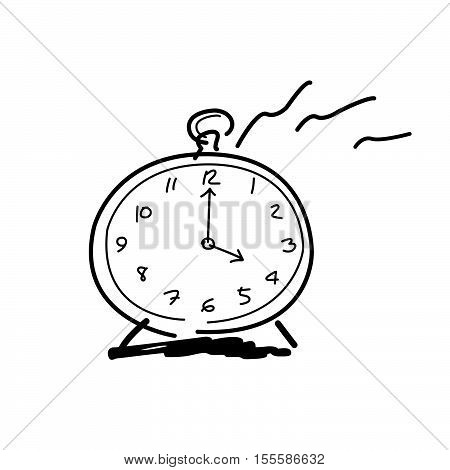 Drawing by hands clock icon 4 o'clock