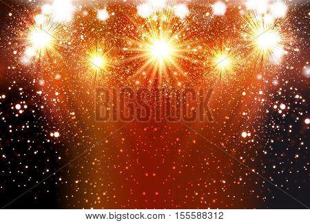 Happy New Year fireworks background celebration template