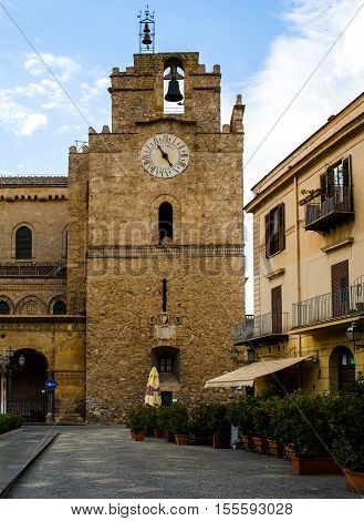 Monreale Cathedral (Duomo di Monreale) near Palermo Sicily Italy. UNESCO Heritage site