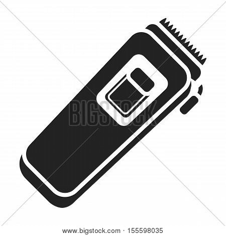 Electrical trimmer icon in black style isolated on white background. Hairdressery symbol vector illustration.