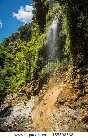 Waterfalls On The River Krikiliotis At Panta Vrexei In Evritania, Greece