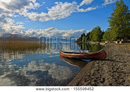 Lake Ohrid in Mazedonia. The pictrue was made in Lagadin, a small village.