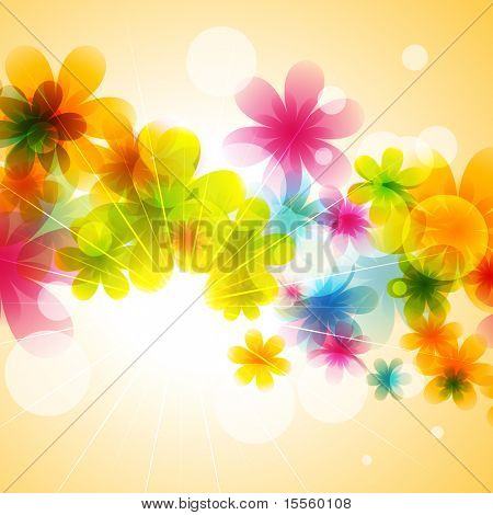 beautiful flower vector background illustration