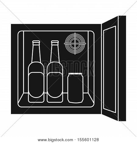 Mini-bar icon in black style isolated on white background. Kitchen symbol vector illustration.