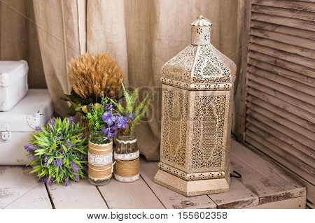 Arabian lamp. Concept for Moroccan and Arabian culture and design
