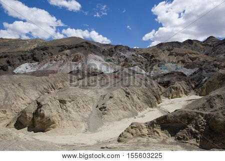 clouds over Zabriskie Point in Death Valley, California
