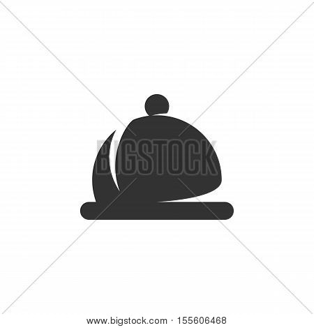 Dish Icon isolated on a white background - stock vector