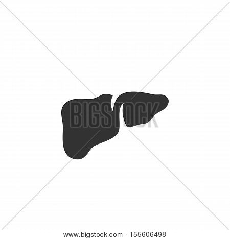 Liver Icon isolated on a white background - stock vector