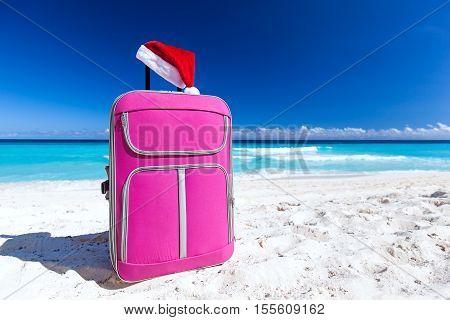 Santa Hat On Baggage, Christmas Vacation