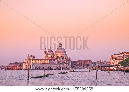 Scenic View Of Santa Maria Della Salute Cathedral In Venice