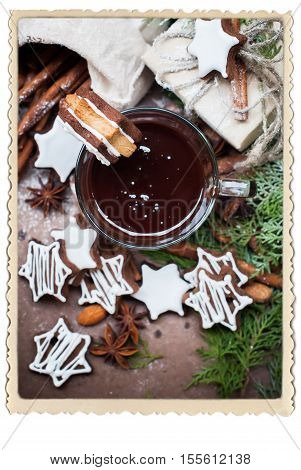 Tiny Chocolate Christmas Cookies Star Shape Cup