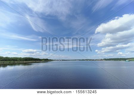 Gorodets,, Russia. - June 2.2016. View Of The Upper Gorodetsky Gateways To The Volga River.