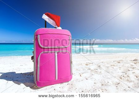 Santa Hat On Baggage, Christmas Vacation