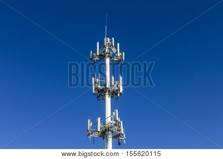 Telecommunications And Wireless Equipment Tower With Directional Mobile Phone Antenna - Landscape