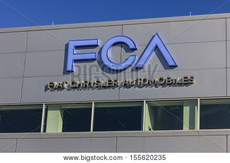 Tipton - Circa November 2016: FCA Fiat Chrysler Automobiles Transmission Plant. FCA sells vehicles under the Chrysler Dodge and Jeep brands I