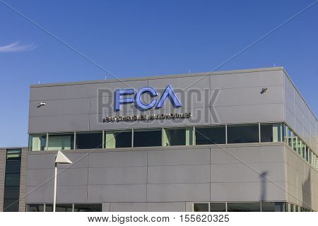 Tipton - Circa November 2016: FCA Fiat Chrysler Automobiles Transmission Plant. FCA sells vehicles under the Chrysler Dodge and Jeep brands III