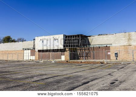 Abandoned Store on the Indianapolis East Side. Many Neighborhoods Battle Blight and Poverty II