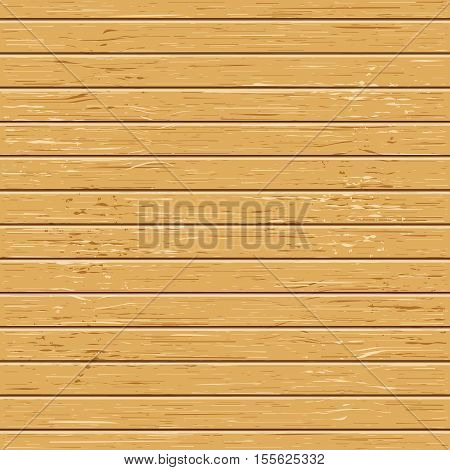 Vector light wood texture deck. Boards with wooden pattern. Flat view. Stock illustration