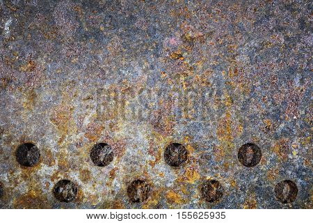 Metal Corrosion Rust- industrial background. Rusted texture steel