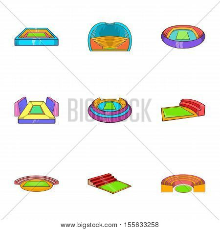 Sport complex icons set. Cartoon illustration of 9 sport complex vector icons for web