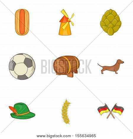 Germany icons set. Cartoon illustration of 9 Germany vector icons for web