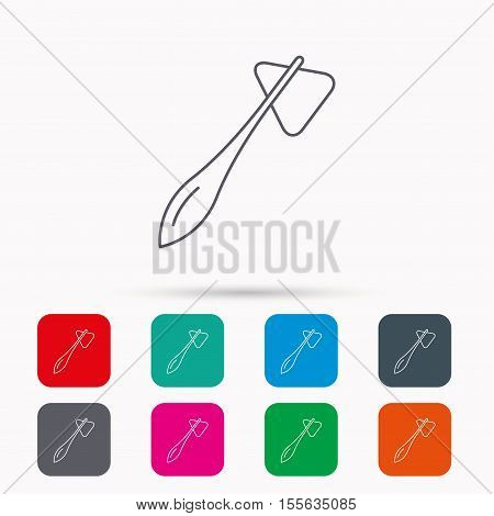 Reflex hammer icon. Doctor medical equipment sign. Nervous therapy tool symbol. Linear icons in squares on white background. Flat web symbols. Vector