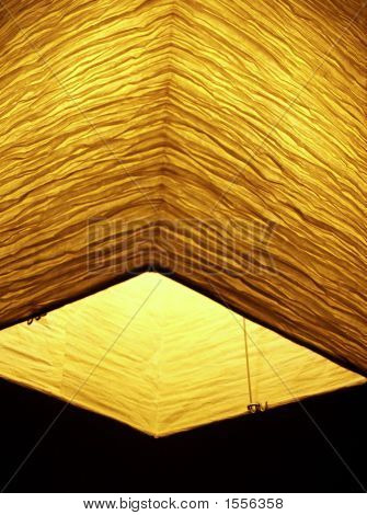 Asia: Style: Golden Light From Crinkly Paper Lantern
